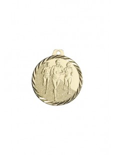Médaille 50mm or Running feminin